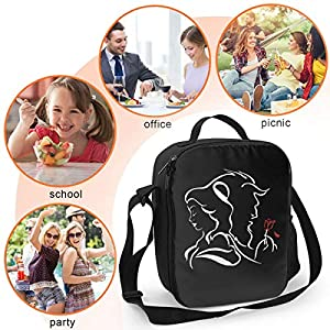 Beauty Within The Beast Lunch Bag Insulated Lunch Box Wide-Open Lunch Tote Cooler Bag Large Drinks Holder Durable Thermal Snacks Organizer For Women Men Adults College Work Picnic Hiking Beach Fishing (Color: Beauty Within The Beast Insulated Lunch Bag, Tamaño: One Size)