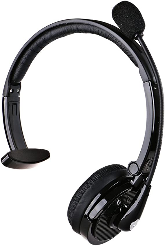 Amazon Com Bluetooth Headset For Drivers Pashion 2 In 1 Over The Head Stereo Bluetooth Headphones With Mic Noise Canceling Wireless Trucker Driver Headset For Mobile Phones Iphone 6s 5 Ipad Pc Model 5