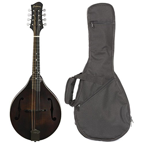 Eastman MD305 All Solid Wood A Style Mandolin Satin Nitrocellulose Chrome Hardware ()
