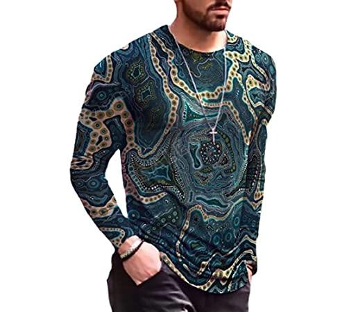 JFX 3D-print T-shirt heren polyester stam korte mouwen losse ademende top beweging