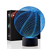 Christmas Gift Dolphin 3D Illusion Lamp Night Light Beside Table Lamp, Jawell 7 Colors Auto Changing Touch Switch Decoration Lamps with Acrylic Flat & ABS Base & USB Cable Eco-friendly Desk Lamp