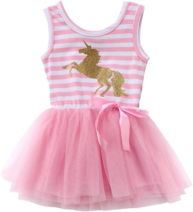FENICAL Vestido de Disfraz de Unicornio de niña bebé Princesa sin ...