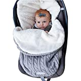 Kigin Baby Carriage Warm Sleeping Bag Thick Plush Lining Knitted Bag Sleeping Bags
