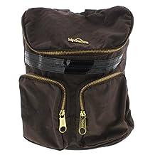 Kipling Womens Carter Patent Trim Adjustable Backpack Brown O/S