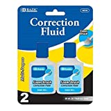 Correction Fluid with Foam Brush (Set of 2) Quantity: Case of 24 by Bazic