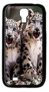 Young Leopard Hard Cover Back Case For Samsung Galaxy S4,PC Black Case for Samsung Galaxy S4 i9500
