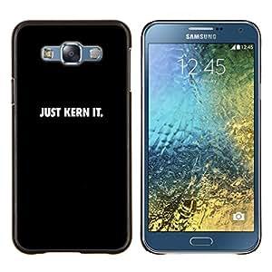 """Be-Star Único Patrón Plástico Duro Fundas Cover Cubre Hard Case Cover Para Samsung Galaxy E7 / SM-E700 ( Sólo Kern Se"""" )"""