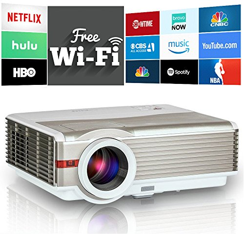 Wireless LCD Home Theater Projector - WiFi Miracast Airpl...