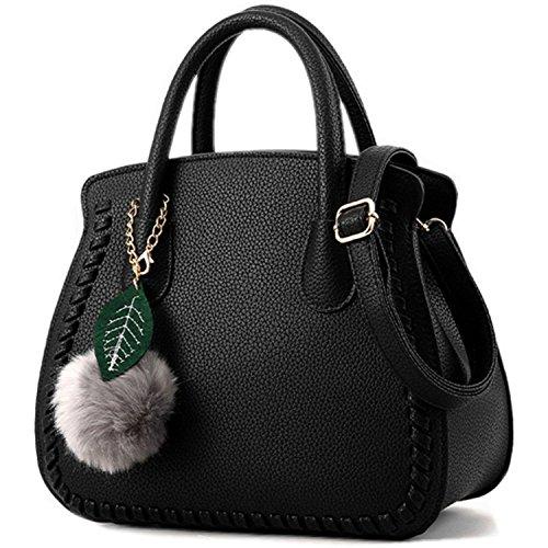 Women Hot Handbag PU Leather bags(white) - 9