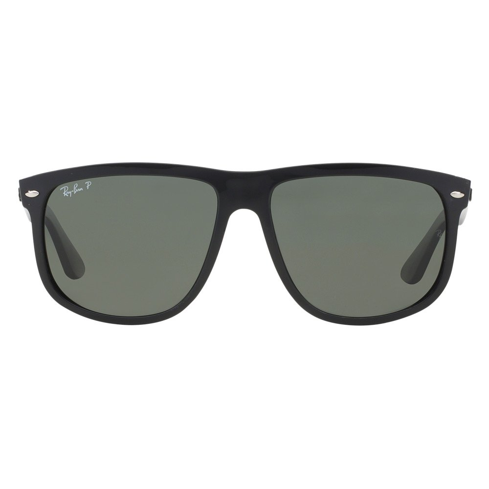 Ray-Ban Men's 4147 60mm Polarized Black/Crystal Green Polarized none none by Ray-Ban