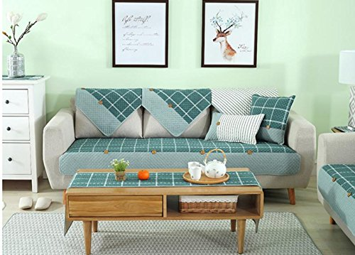 Twill Sleeper Sofa - YJBear Japan Style Cotton Quilted Sofa Cushion Rectangle Twill Sofa Pillow Case with Filler 11.8