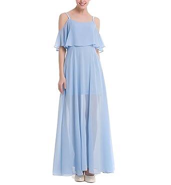 Holygift Women\'s Sleeveless Ruffles Top Chiffon Slimming Prom Gown ...