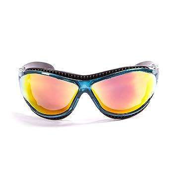 Ocean Sunglasses Tierra de Fuego - Gafas de Sol polarizadas - Montura : Azul Transparente - Lentes : Amarillo Espejo (12201.6): Amazon.es: Deportes y aire ...