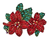 Kirks Folly Poinsettia Passion Pin (Goldtone)
