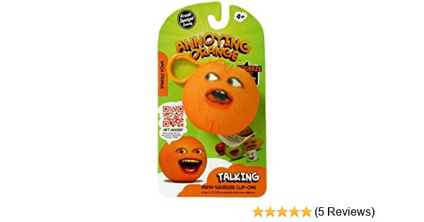 Amazon.com: Annoying Orange TakeAlongs 2 1/4 Inch Talking Plush ClipOn Whoa Orange: Toys & Games