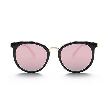 KCJKXC Espejo De Color Rosa Gafas De Sol De Las Mujeres De ...