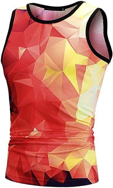 Star-bw Camisetas de Tirantes Hombre 3D Celosía Sin Mangas Camisa Deportes Gimnasio: Amazon.es: Ropa y accesorios