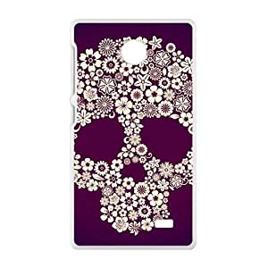 Flowers Skull Bestselling Hot Seller High Quality Case Cove For Nokia Lumia X