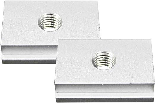 5pcs aluminium m8 t-slider pour t-slot pour divers outils de menuiserie