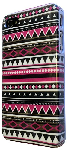 iPhone 4 4S Case cover Hard Gloss Hülle /Designer Stil Classic Aztec Tribal Tribe/-Quality case ref 1