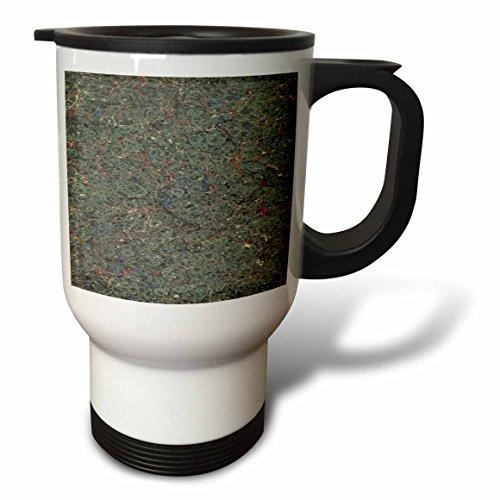3dRose TDSwhite – Patterns Designs - Antique Abstract Marbleized Design Vintage - 14oz Stainless Steel Travel Mug (tm_281782_1) by 3dRose