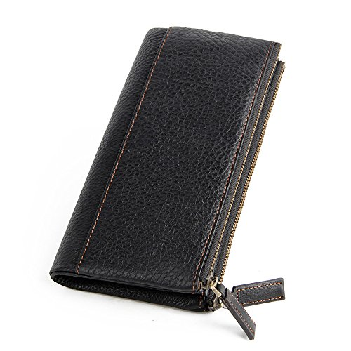 Wallets Long Leather Purse Picture Black RFID Lining Fashion Holder AYRZRq