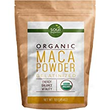 Maca Powder, Organic From Maca Root - Purest Premium Vegan Superfood from Peru, USDA Certified and Gelatinized from Raw, Boosts Energy and Fertility, Mostly Yellow Maca, with Black and Red Blend