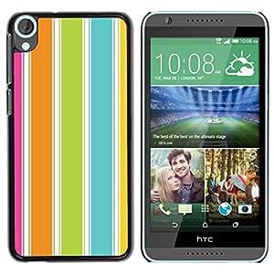 iKiki Tech / Estuche rígido - Colorful Beach Summer Vibrant - HTC Desire 820