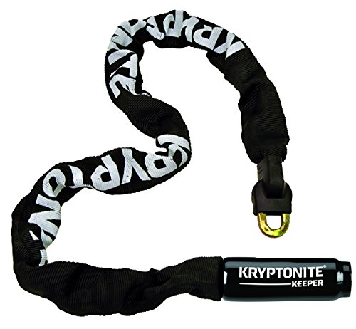 Kryptonite Keeper Integrated Chain bicicleta Lock , Negro, (32-Inch)