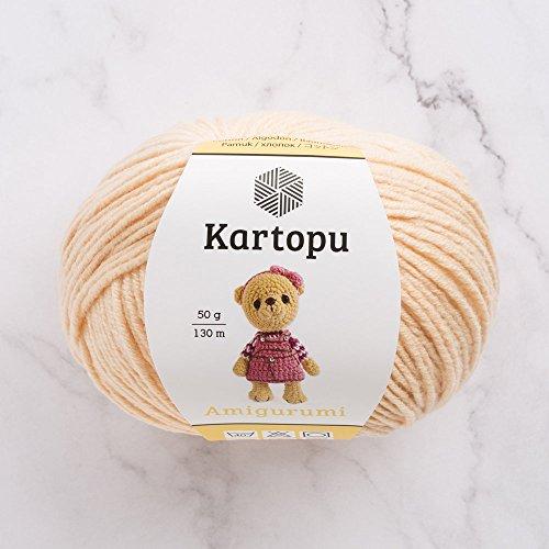 3 Ball Kartopu Amigurumi Total 5.28 Oz Each 1.76 Oz (50g) / 142 Yrds (130m), 49% Cotton, Super Soft, Dk Light Baby Yarn, K1219-Pink