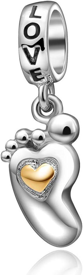 Amazon Com Love Heart Charm Birthday Christmas Charms For Pandora Bracelets N Arts Crafts Sewing