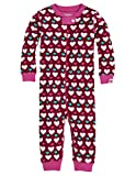 Hatley Baby Girls' Sleepy Romper Lots Of Hearts, Red, 12 18 Months