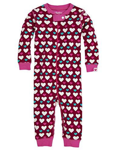 Hatley Baby Girls' Sleepy Romper Lots Of Hearts, Red, 12 18 Months by Hatley