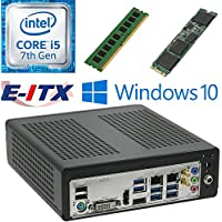 E-ITX ITX350 Asrock H270M-ITX-AC Intel Core i5-7400 (Kaby Lake) Mini-ITX System , 4GB DDR4, 960GB M.2 SSD, WiFi, Bluetooth, Window 10 Pro Installed & Configured by E-ITX