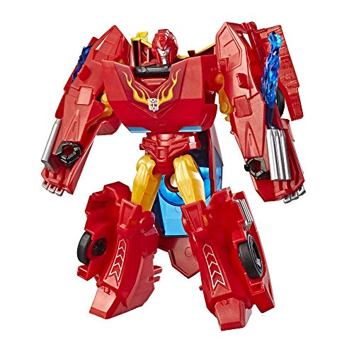 Transformers Cyberverse Action Attackers: Warrior Class Hot Rod Action Figure Toy (Transformers Cyberverse Toys)