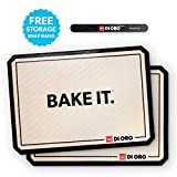 DI ORO - Pro Silicone Baking Mat - Nonstick Silicone Sheets - 480° Heat Resistant - 16 1/2'' × 11 5/8'' Half Sheet - 1.0mm Thick Pro Grade BPA Free Silicone - A Lifetime of Joyful Cooking - 2-Pack