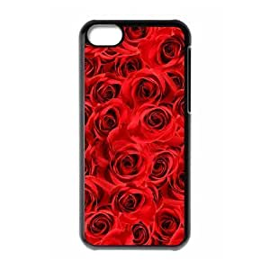 DIY Protective Snap-on Hard Back Case Cover for iPhone 5C with Happy flowers