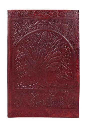Tree of Life Sacred Leather Journal for Men Women by Rustic Town (Tree Of Life Journal Lock)