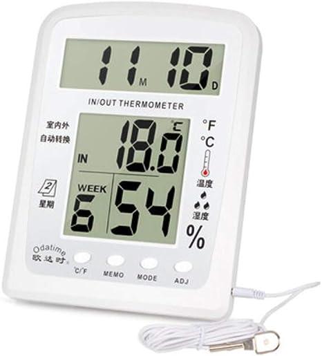 Higrometro Digital Termometro Higrometro Digital Relojes Jardin Hogar Hogar Interior Higrómetro De Precisión Termómetro Electrónico E Higrómetro Habitación De Bebé: Amazon.es: Bebé