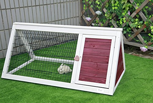 Petsfit 45.6″Lx 24.4″Wx 20.6″H Guinea Pig Hutch, Guinea Pig Cage for Indoor Use, Fit 1-2 Normal Size Guinea Pigs