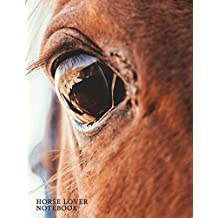 Horse Lover Notebook: Equestrian Graph Paper Notebook | Notebook Composition Book Quad Ruled 5 x 5 Small Squares Graphing Paper for Math & Science Students and Teachers | Large (8.5 X 11)  Matte Softback Cover
