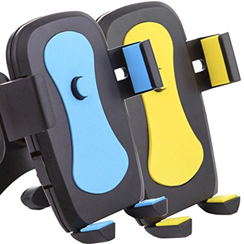 [2pack] Universal Air VentPhone Car,iBarbe Smartphone Car Air Vent Mount Holder Cradle Compatible iPhone X 8 8 Plus 7 7 Plus SE 6s 6 Plus 6 5s 5 4s 4 Samsung Galaxy S6 S5 S4 LG More-Blue+Yellow ()