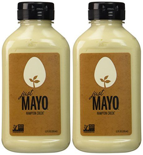 Hampton Creek Just Mayo Vegan Eggless Soy-Free Kosher Mayonnaise 2 Pack (12 oz)