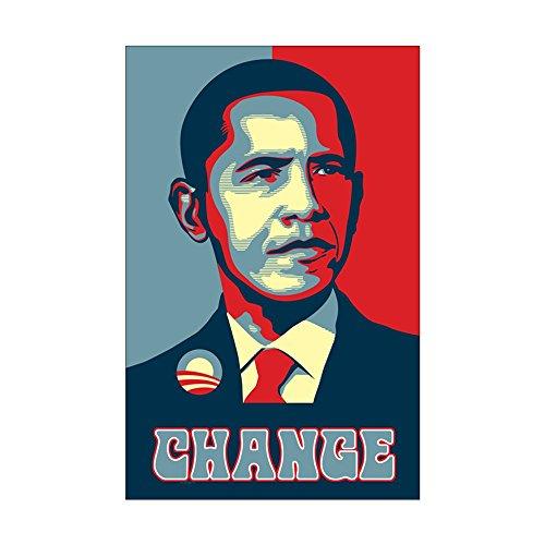 CafePress - Barack Obama Change - Mini Poster Print