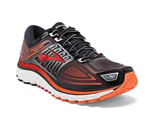 e9b88c3e402 Brooks Men s Glycerin 13 Black High Risk Red Silver Athletic Shoe  (B00QHEIJEM)