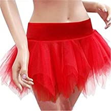 Women's Burlesque Lace up Overbust Corset Bustier Mini Tutu Skirt