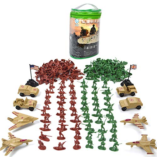 Meiyiu 210pcs/set Military Plastic Toy Children Boys Soldiers Army Men Tanks Aircraft Figures Toys Model Action Figure by Meiyiu