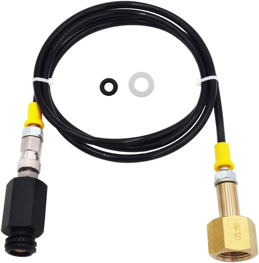 Soda Stream CO2 Tank Cartridges CGA320 Adapter Hose with Accessories Direct Connect to Soda stream Make Machine
