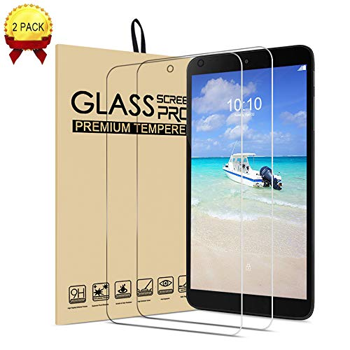 for Alcatel 3t 8.0 tab Glass Screen Protector,[Case Friendly](0.01inch 9H) Anti-Scratch,Clear Tempered Protector Film Shield Guard for Alcatel 3t 8.0 inch Tablet (2018)