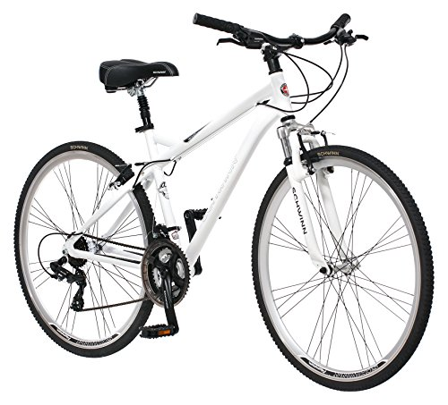 Schwinn Men's Network 3.0 700C Wheel Men's Hybrid Bicycle White, 18' Frame size (Bmx Linear Pull)